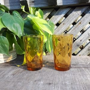 Set of two amber glasses